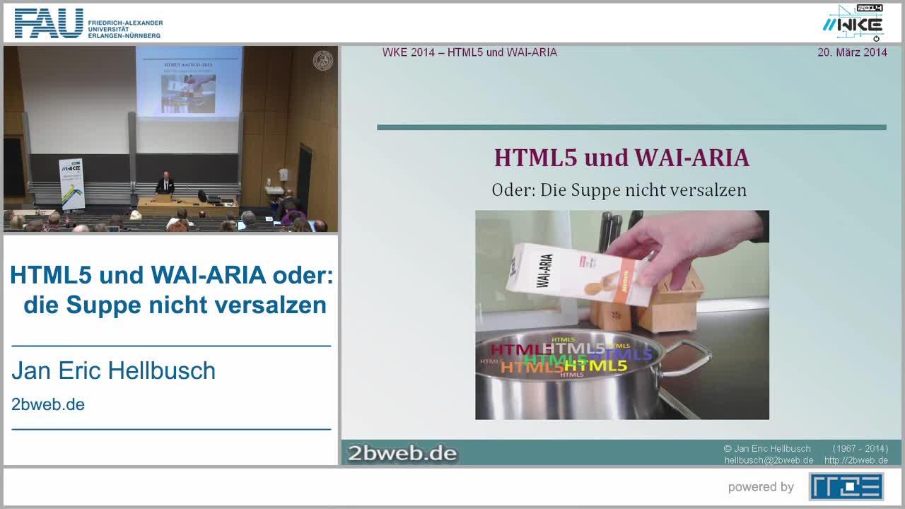 BF - HTML5 und WAI-ARIA oder: die Suppe nicht versalzen preview image