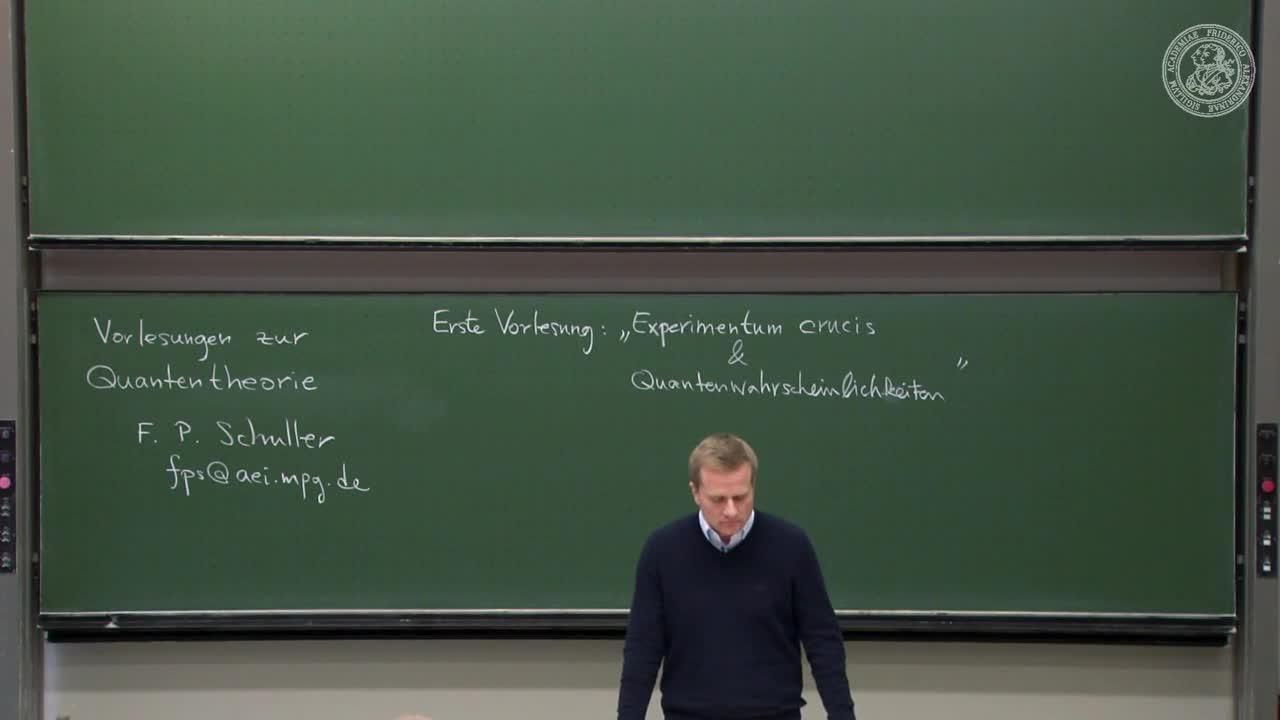 Theoretische Quantenmechanik: Experimentum crucis und Quantenwahrscheinlichkeiten preview image