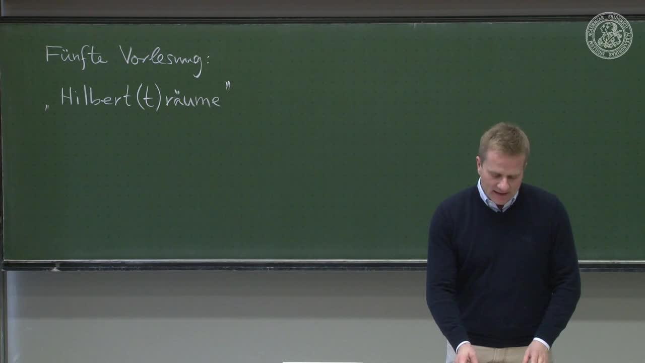 Theoretische Quantenmechanik: Hilbert(t)räume preview image