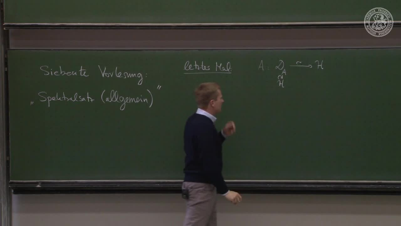 Theoretische Quantenmechanik: Spektralsatz (allgemein) preview image
