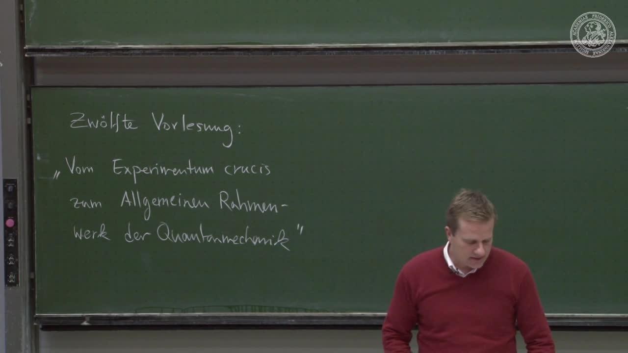 Theoretische Quantenmechanik: Vom Experimentum crucis zum Allg. Rahmenwerk der QM preview image