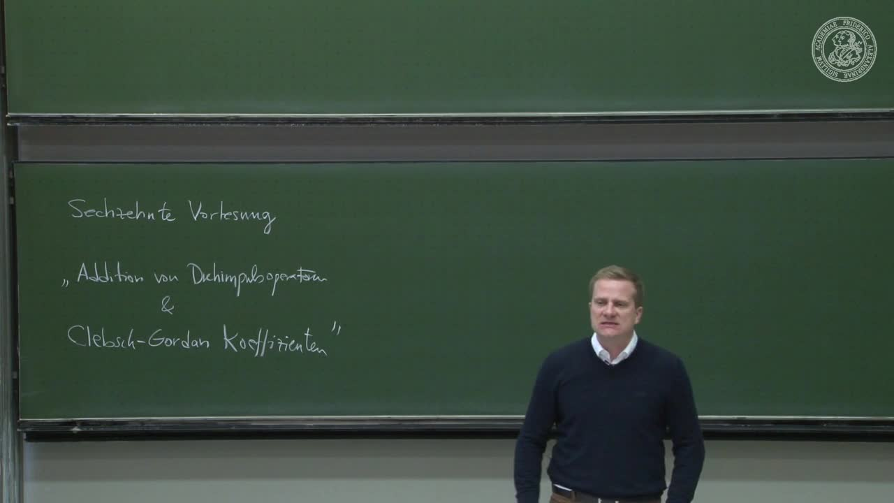 Theoretische Quantenmechanik: Addition von Drehimpulsoperatoren & Clebsch-Gordan Koeffizienten preview image