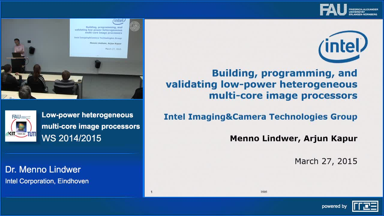 Building, programming, and validating low-power heterogeneous multi-core image processors preview image
