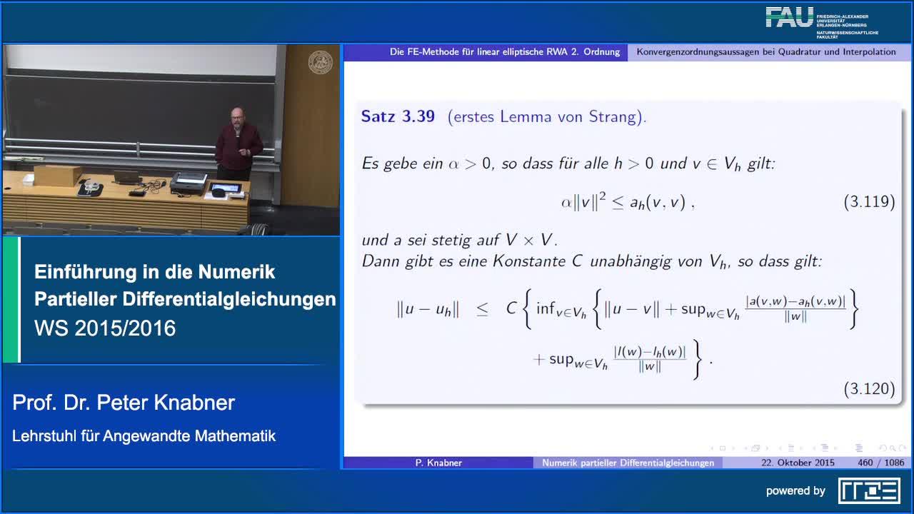 Einführung in die Numerik Partieller Differentialgleichungen I preview image