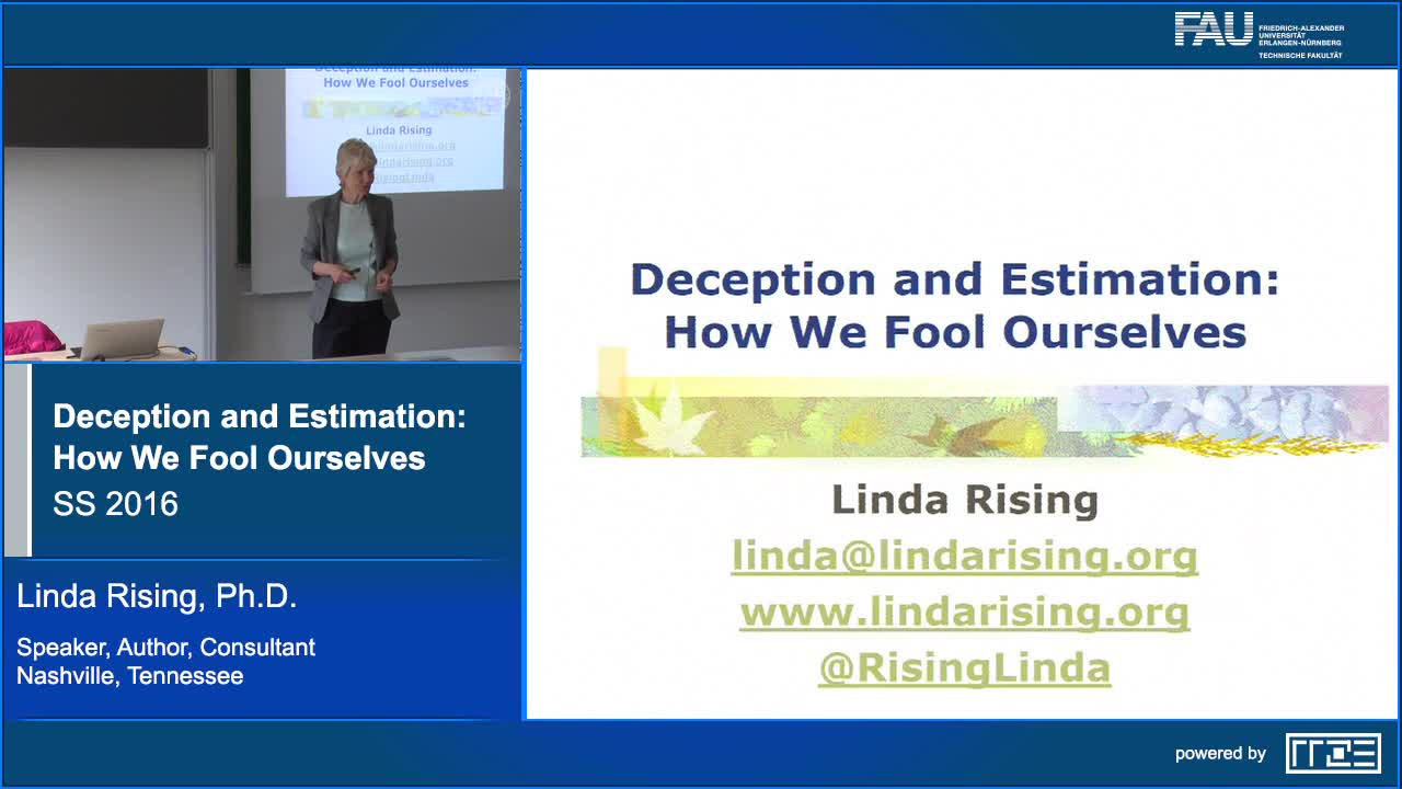 Deception and Estimation: How we fool ourselves preview image