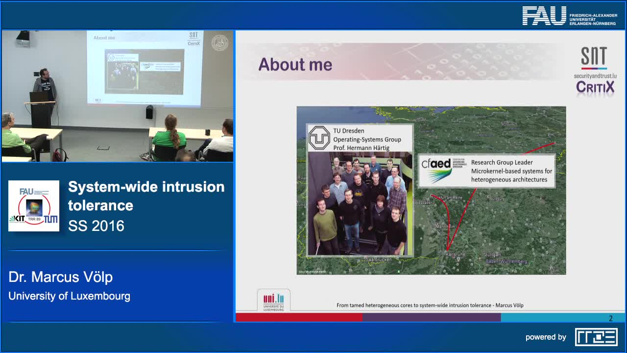 From tamed heterogeneous cores to system wide intrusion tolerance preview image