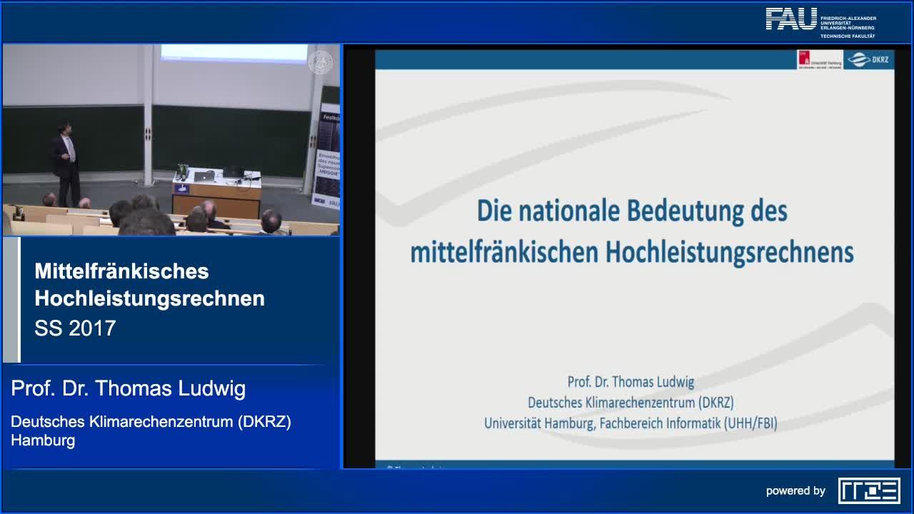 Die nationale Bedeutung des mittelfränkischen Hochleistungsrechnens preview image