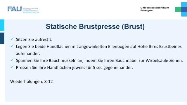 Krafttraining - Einsteiger - Brustpresse preview image