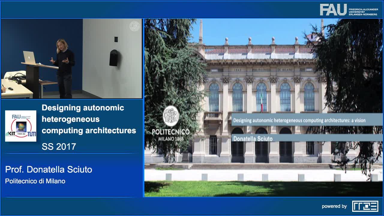 Designing autonomic heterogeneous computing architectures: a vision preview image