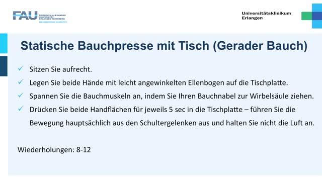 Krafttraining - Einsteiger - Bauchpresse preview image