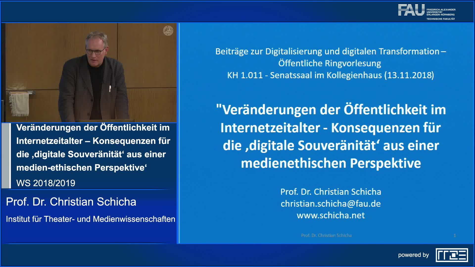 Veränderungen der Öffentlichkeit im Internetzeitalter – Konsequenzen für die 'digitale Souveränität' aus einer medien-ethischen Perspektive' preview image