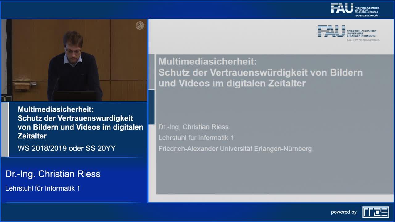 Multimediasicherheit: Schutz der Vertrauenswürdigkeit von Bildern und Videos im digitalen Zeitalter preview image