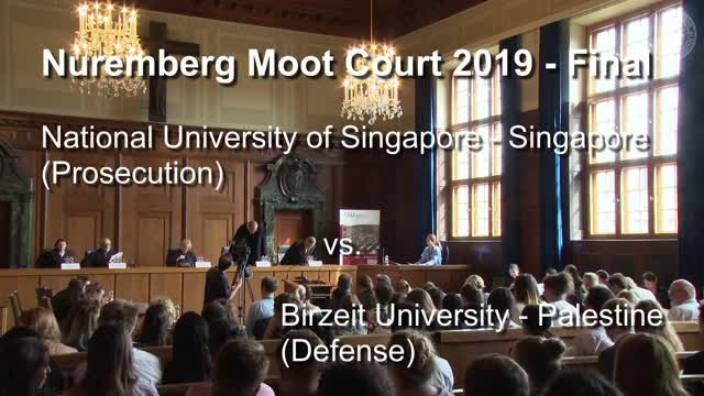 Bild zum Video Nuremberg Moot Court - Final 2019
