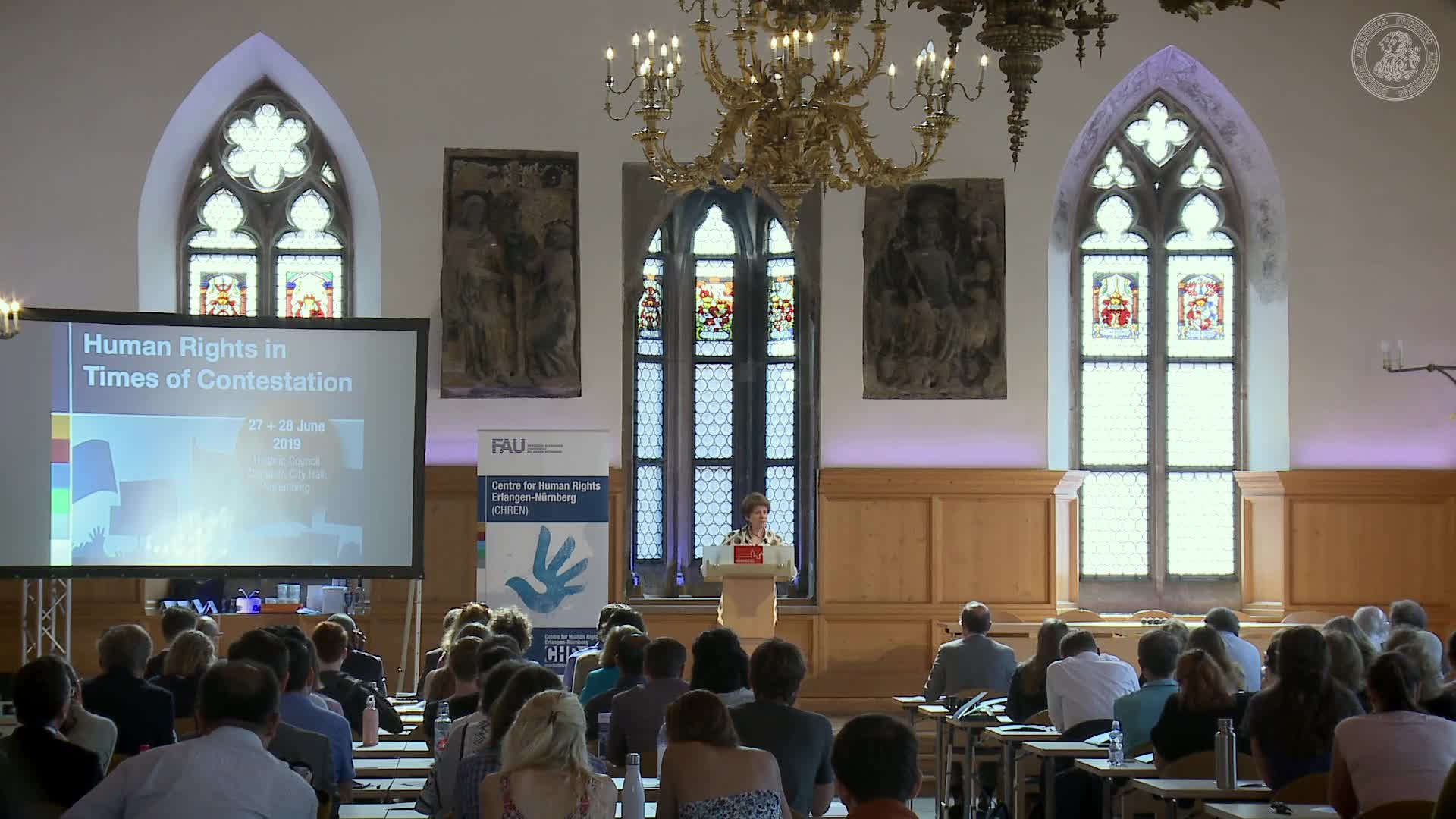 Bild zum Video Opening Lecture:  Human Rights in Crisis – New Developments, Old Challenges?