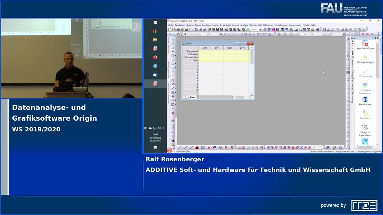 Datenanalyse- und Grafiksoftware Origin (Workshop) preview image
