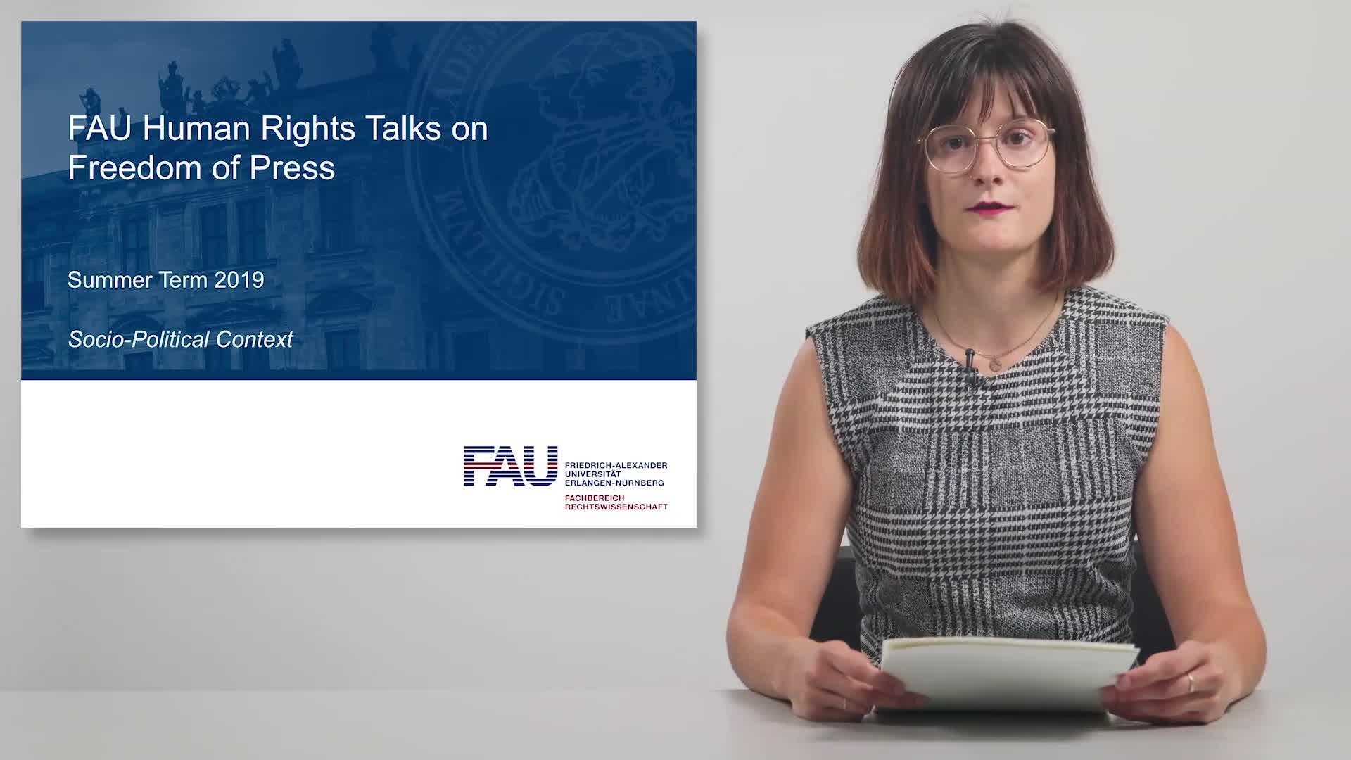 FAU Human Rights Talks – Summer Term 2019: Socio-Political Context preview image