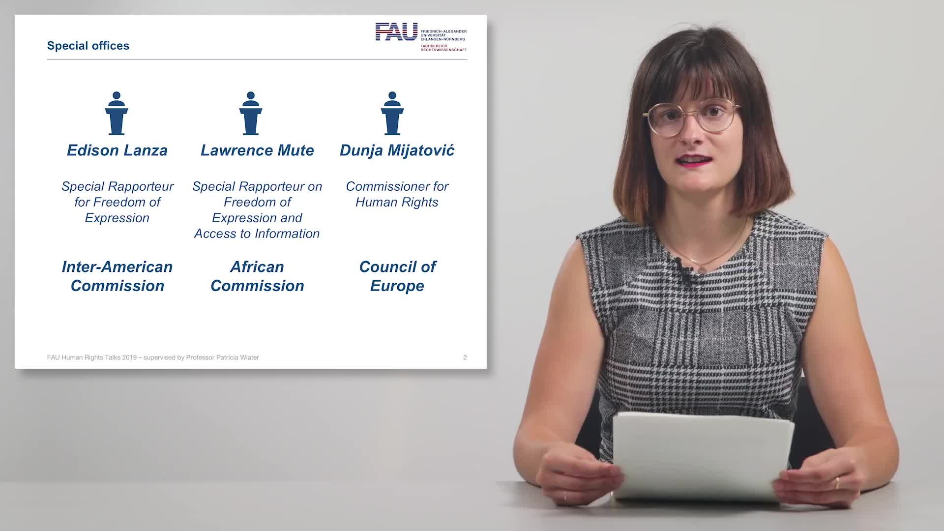 FAU Human Rights Talks – Summer Term 2019: Alternative Mechanisms for Protecting Freedom of Press preview image