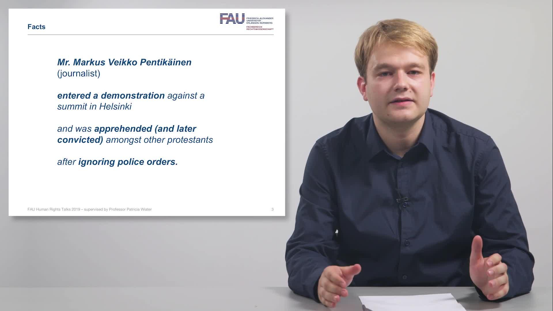 FAU Human Rights Talks – Summer Term 2019: Pentikäinen v. Finland preview image