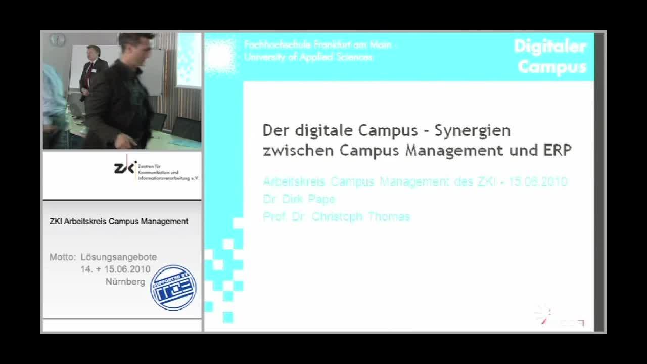 Das Projekt Digitaler Campus und Synergien zwischen Campus Management und ERP bei der Abbildung von Prozessen im Fachbereichsmanagement preview image