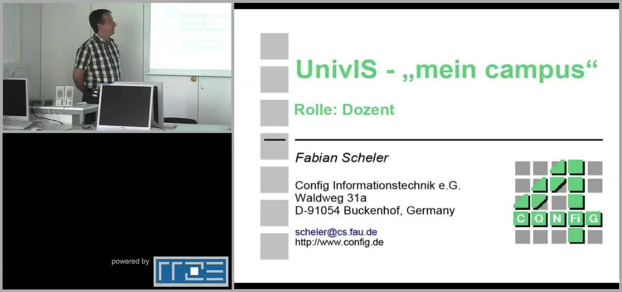 UnivIS - mein campus - Rolle: Dozent preview image