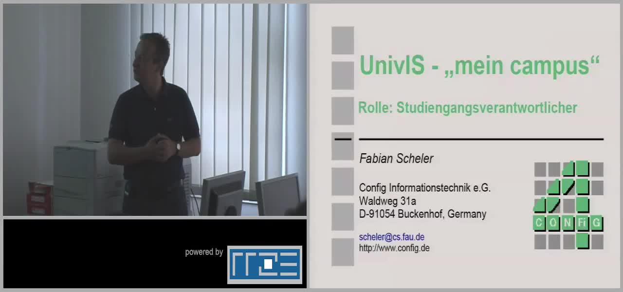 UnivIS - mein campus - Rolle: Studiengangsverantwortliche preview image