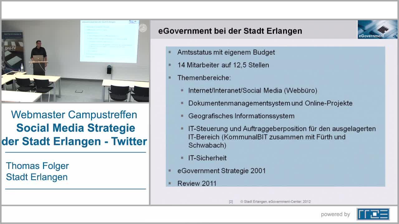 Social Media Strategie der Stadt Erlangen - Twitter preview image